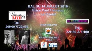concert Vanessa B. Live - Bal du 14 juillet 2016 - Le Pradet ( 83 ) - COFP - Chanteuses et DJ