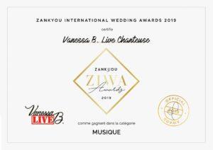 zankyou - prix ziwa - 2019 - récompense - mariage